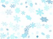 Snow Flakes Falling Macro Vector Graphics, Christmas Snowflakes Confetti Falling Scatter Backdrop. W poster