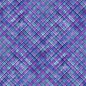 Watercolor Diagonal Stripe Plaid Seamless Pattern Background. Blue And Purple Stripes. Watercolour H poster