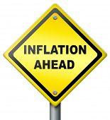 inflation ahead crash in financial banking and stock market bank crash value devaluation risk in bus