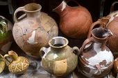 Ancient Ceramic Pottery Found In Tanais. Archeological Items poster
