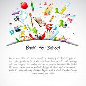 pic of education  - illustration of education object on back to school background - JPG