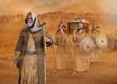 Biblical Moses Leads The Isrealites Through The Desert Sinai During The Exodus, In The Wilderness, I poster