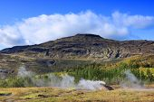 Geysir geothermal area in Iceland, Europe poster