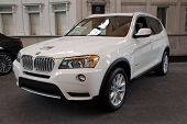 JACKSONVILLE, FLORIDA - FEBRUARY 18: A 2012 BMW X3 SUV at the Jacksonville Car Show on February 18,