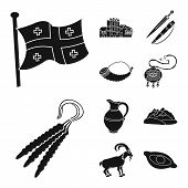 Vector Illustration Of Heritage And Originality Icon. Set Of Heritage And Traditions Vector Icon For poster