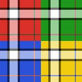 Classic tartan fabric seamless pattern four color set, vector