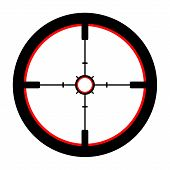 picture of crosshair  - Isolated Illustration of a Crosshair over white - JPG
