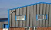 image of premises  - Exterior of modern industrial or factory building - JPG