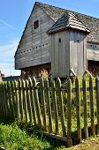 picture of 1700s  - Wooden structure replicas of Fort King George as it would have been in the late 1700s - JPG