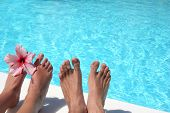 image of wet feet  - man and women - JPG