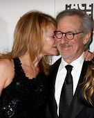 LOS ANGELES - FEB 17:  Kate Capshaw, Steven Spielberg arrive at the 63rd Annual ACE Eddie Awards at