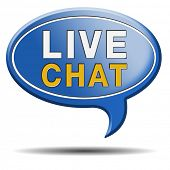 foto of chat  - live chat icon - JPG