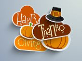 picture of happy thanksgiving  - Colorful sticker - JPG