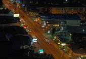 image of gatlinburg  - Downtown Gatlinburg Tennessee viewed from above at night - JPG
