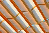 picture of canopy roof  - Textile shelter from the weather in detail - JPG