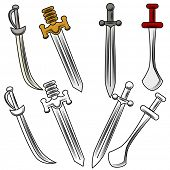 stock photo of rapier  - An image of different swords - JPG