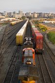 Railroad Yards Boxcars Cargo Containers Train Tracks Downtown Tacoma Washington