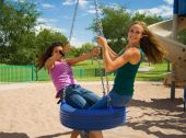 Teenage Girls On A Playground