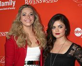 LOS ANGELES - OCT 15:  Sasha Pieterse, Lucy Hale at the