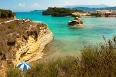 foto of sidari  - View of the bay of Sidari on Corfu - JPG