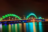Night bridge at Da nang, Vietnam