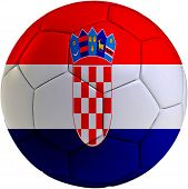 Football Ball With Croatian Flag