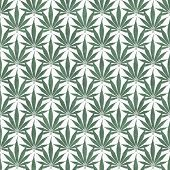 image of marijuana leaf  - Green and White Marijuana Leaf Pattern Repeat Background that is seamless and repeats - JPG