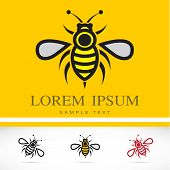 picture of bee cartoon  - Set of vector bee icons  - JPG