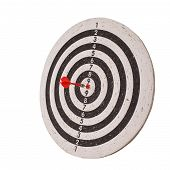 Success Concept, Darts Hit Target On Dartboard