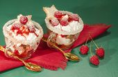 Christmas Dessert In A Glass With Decoration