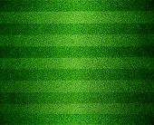 stock photo of greenery  - Beautiful green lined football or soccer field - JPG