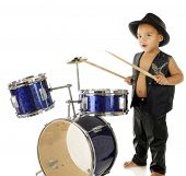 stock photo of drums  - An adorable - JPG