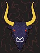 stock photo of bull head  - Head of Minoan Bull  - JPG