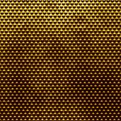 Golden polished metal doted background