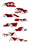 picture of red roof  - Collection consisting of eight red roofs - JPG