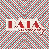 Data Security Concept on Striped Background.