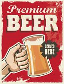picture of brew  - Vintage retro beer poster - JPG