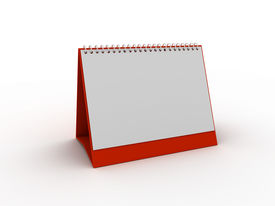 stock photo of annal  - red daily planner or calendar - JPG