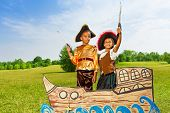 picture of pirate girl  - Two kids - JPG