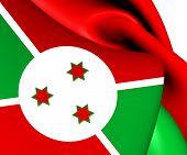 stock photo of burundi  - 3D Flag of the Burundi - JPG