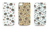 foto of fanny  - Set fashionable Autumn harvest ornaments with fanny hedgehog for mobile phone cover - JPG