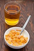 Breakfast Cereal With Milk And Juice