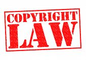 picture of plagiarism  - COPYRIGHT LAW red Rubber Stamp over a white background - JPG