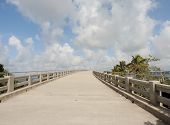 stock photo of mile  - The old oversees highway bridge in Bahia Honda State Park at mile marker 37 in Big Pine Key - JPG