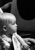 picture of storytime  - a one year old child watching an entertainer - JPG