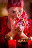 stock photo of witch ball  - Fortuneteller or esoteric Oracle - JPG