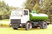stock photo of tank truck  - Russian tank truck maz vehicle - JPG