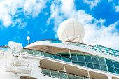 foto of passenger ship  - Radar safety and navigation equipment on passenger ship - JPG