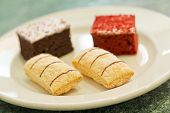 picture of jimmy  - Assortment of sweet and colorful dessert cakes on a plate - JPG
