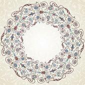 stock photo of ottoman  - Vintage Background Traditional Ottoman motifs - JPG